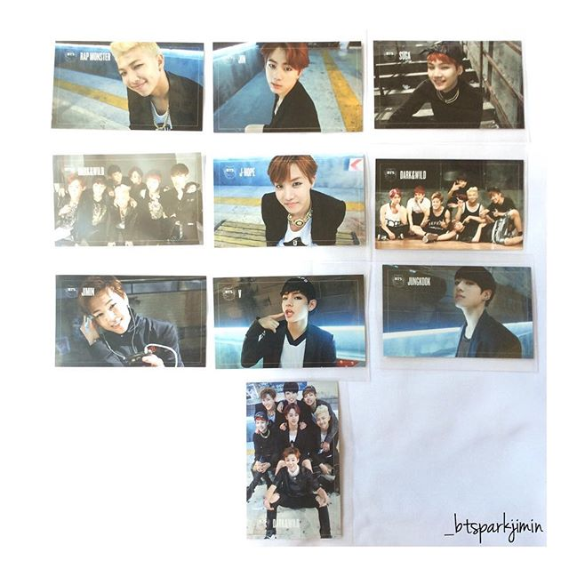 bts dark and wild album photocards